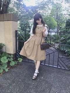 日本 fint 雙排扣 四季款 文青 學院風 連身裙
