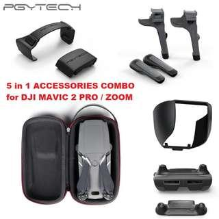 🚚 PGYTECH Accessories Combo Carrying Case Mini + Landing Gear Extensions Leg + Lens Hood + Propeller Holder + Control Stick Guard Protector for DJI MAVIC 2 PRO / ZOOM