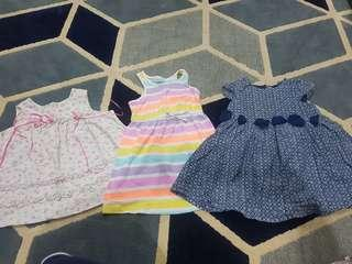 free post 3pcs Dress Baby Girl