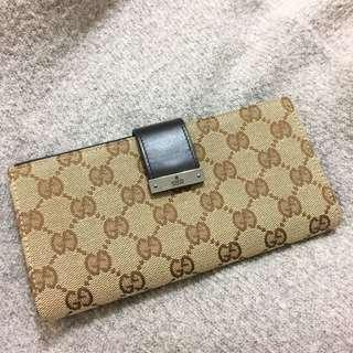 🚚 Gucci 經典扣式長夾