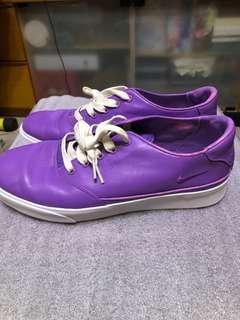 NIKE真皮紫色男裝鞋
