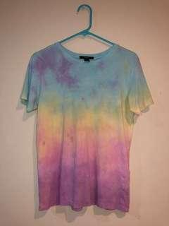 FOREVER 21 Tie Dye Tee Size Small