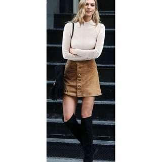Austin Tan Corduroy Mini Skirt