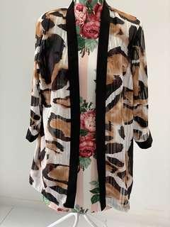 Leopard print tie up top