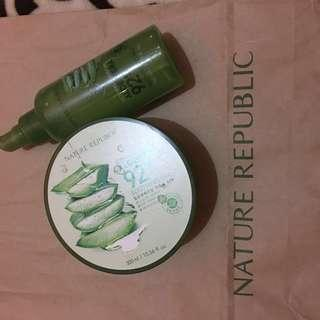 Nature republic gel dan soothing gel mist