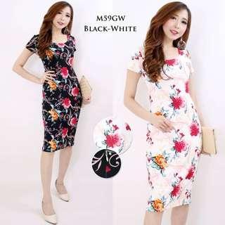Floral Dress (Black)