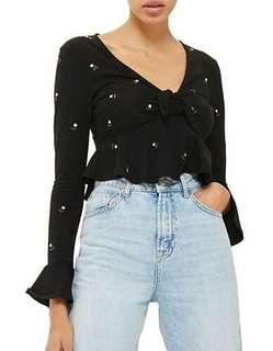 BNWT EMBROIDERED CROP TOP