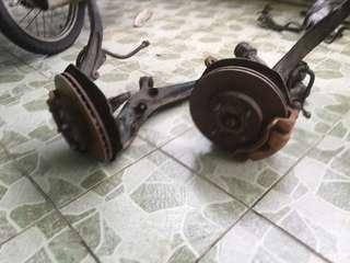 Front disc ek3, power stering pump