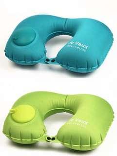 按壓式 充氣頸枕 (2個包順豐自取) 3色選擇