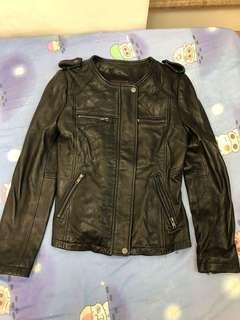 Borsetta leather jacket 皮褸