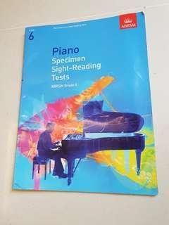 Grade 6 ABRSM Piano Specimen Sight-Reading Tests