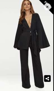 Black Wide Leg Suit Pants BNWT