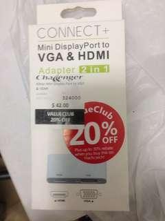 Mini display port to vga & hdmi adapter