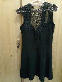 Mini Dress Hitam Jrep