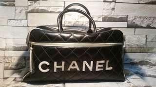 Chanel Vintage bowler quilted bag
