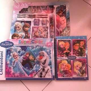 Frozen stationery, puzzle and notebook