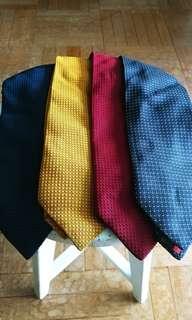 4 ST DUPONT silk ties Free 100% silk tie
