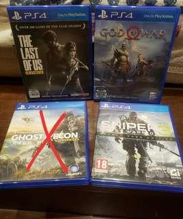 🈹️PS4 god of war & the last of us & sniper 3
