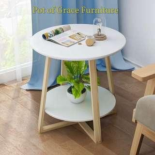 Scandinavian side table 2 layer