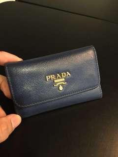 Prada Saffiano Leather Key Holder