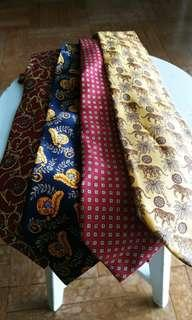 4 ST Dupont ties for $400 FREE 100% silk tie