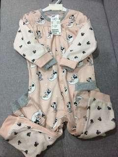 H&M 2pack disney sleepsuits Pajamas 18-24M