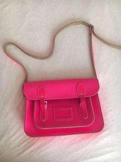 Neon pink satchel