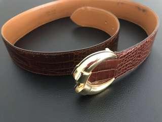 Brown printed belt