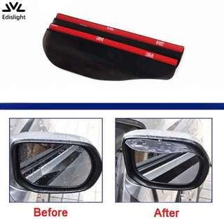 2Pcs Car Rearview Mirror Rain Blades Sun Visor Shade