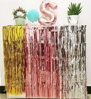 🚚 [New Stock] Tinsel curtains backdrop