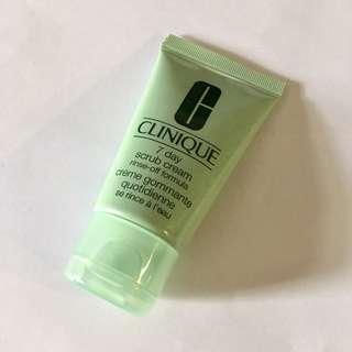 Clinique 7 day scrub cream rinse-off formula deluxe sample size 30ml