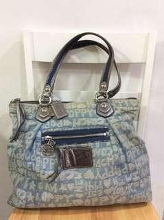 Coach Poppy Denim Bag
