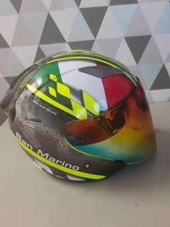 Helmet kyt galaxy slide san marino double visor size M.