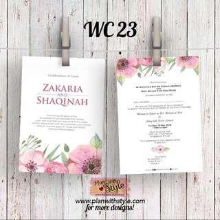 Wedding Card WC23