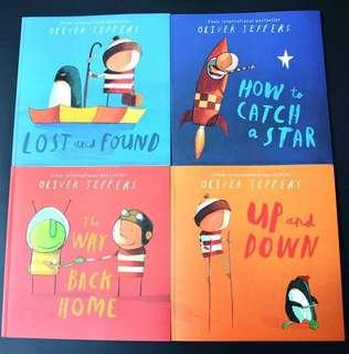 Oliver Jeffers Book Set (Once there was a boy...) Free Postage