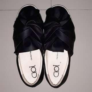 Jual Seadanya Cloi Platform Slip On Shoes Sendal Slipon Hitam Putih Black White