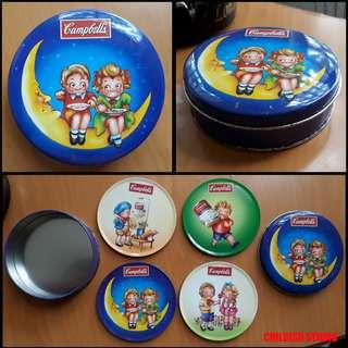 Campbell's Collectible Aluminium COASTER SET
