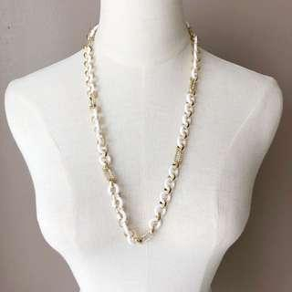 Juicy Couture White Chain Long Necklace