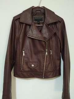 Leather maroon jacket
