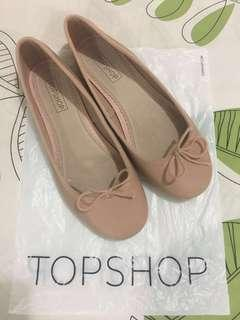BNew Topshop Nude Flats