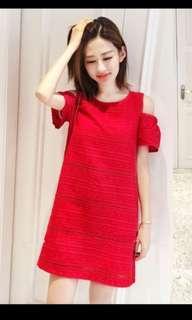 Bnwt Red Nursing Dress good for cny