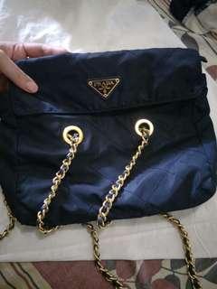 d503a75cb035 repriced!!! authentic prada vintage nylon tessuto golden chain bag