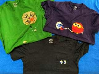 Uniqlo Namco Game Tees (3 pieces)