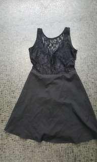 Black lace dress size 8