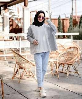 Hally Top Light Grey