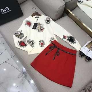 Dolce Blouse Skirt Suit Clothes