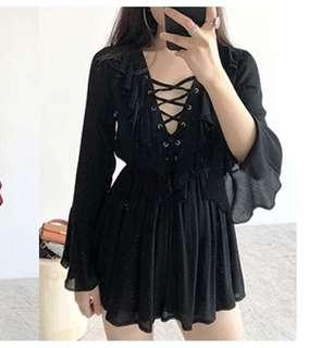 Black summer playsuit