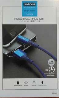 叉滿電話自動斷電 保護你的iphone電池 Joyroom Intelligent Power Off Cable 2米
