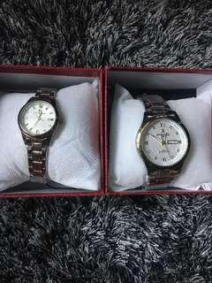 couple watch on the edge