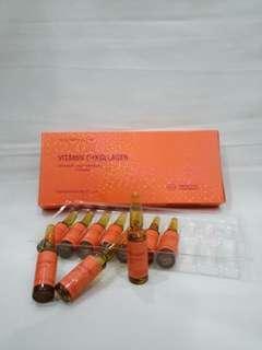 Injection vit c dan colagen.